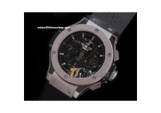 HB0883 - Aero Bang Skeleton Black Dial SS/RU Titanium Bez - Asian 7750