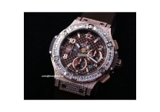 HB8718 - Big Bang Full Diamond Quadrate Diamond Bezel - Asia 7750