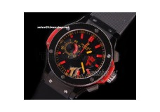 HB2726 - Big Bang 44MM Euro 2008 Red Devil Ceramic Bezel Black Dial - Asia 7750 21600bph
